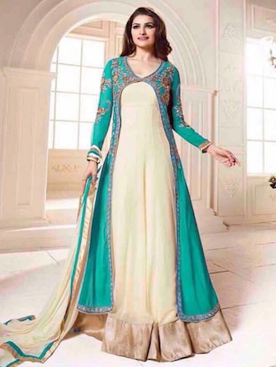 multi georgette dress material