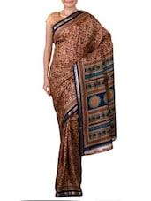 Beige Art Silk Saree - Ambaji - 1191497