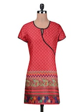 Red Cotton Summer Kurta - By