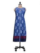 Sleeveless Block Print Cotton Kurta - By