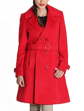 red wool coat -  online shopping for Coats