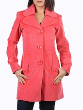 pink wool coat -  online shopping for Coats