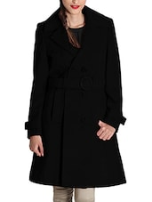 black wool coat -  online shopping for Coats