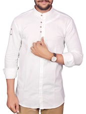 white color, linen casual shirt -  online shopping for casual shirts