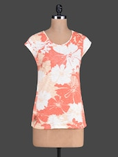 Floral Pattern Print Round Neck Short Sleeve Top - Besiva