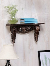 Carved Wooden Wall Bracket - By
