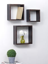 Solid Wood Square Shelf Rack Wall Bracket - Centenarian Art & Crafts