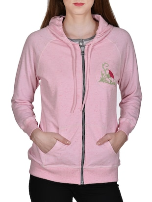 pink none hoodies sweatshirt