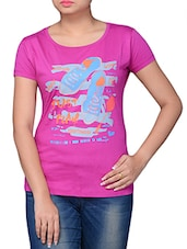 Pink Printed Cotton T-shirt - TSG Breeze