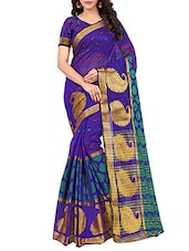 purple woven art silk saree -  online shopping for Sarees