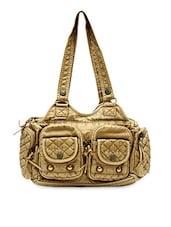 Rugged Beige Faux Leather Handbag - Hawai