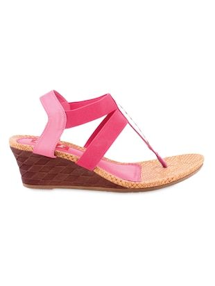 Pink Leatherette wedges