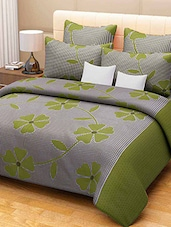 green floral print cotton bed sheet set -  online shopping for bed sheet sets