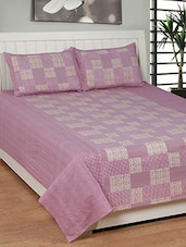 pink printed cotton bed sheet set -  online shopping for bed sheet sets