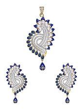 Multi-coloured Embellished��meena Work Earrings - Roshni Creations
