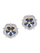 Embellished Changeable 5 Sided Floral Earrings - Roshni Creations