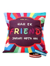 """""""Har Ek Friend���"""" Quoted Cushion & Band Combo - Amigos By Thinking Of You"""