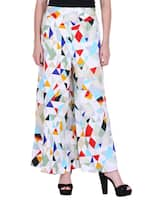 multicolored crepe palazzo -  online shopping for Palazzos