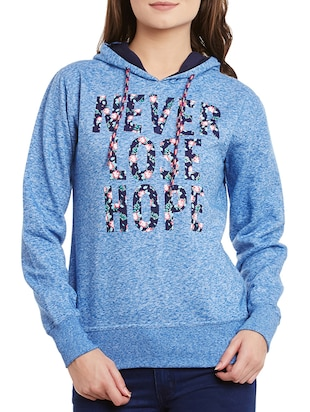 blue none regular sweatshirt