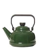 Bottle Green Porcelain Tea Pot With Lid - By