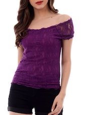purple none regular top -  online shopping for Tops