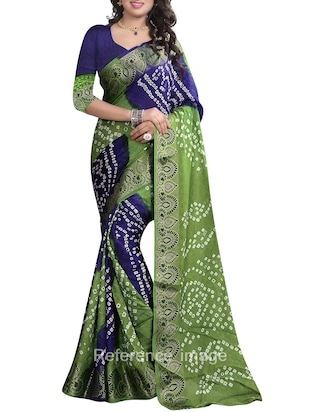 Multicolored Cotton Bandhani Saree