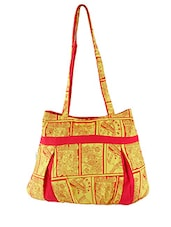 Yellow Printed Canvas Tote Bag - By