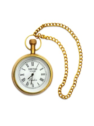 Gold Pocket Watch with Chain