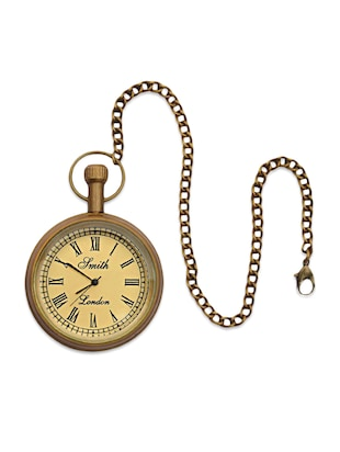 Bronze Pocket Watch with Chain