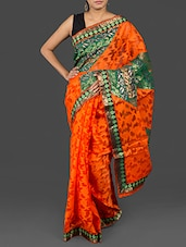 Jacquard & Brasso Work Art Silk Saree - Loom Story