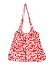 Red Angry Duck Printed Cotton Tote - By