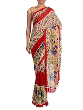 Multicoloured Printed Georgette Saree - Admyrin - 1201903