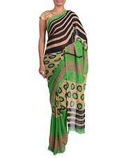 Multicoloured Printed Georgette Saree - By