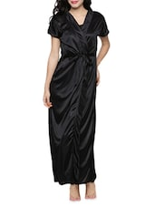 Black Satin  Nightdress -  online shopping for nightwear