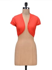 Orange Viscose Short Shrug - By