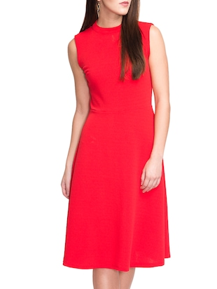 red none aline dress