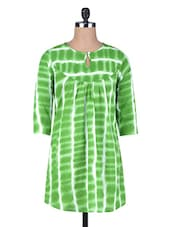 Green Printed Cotton Tunic - By