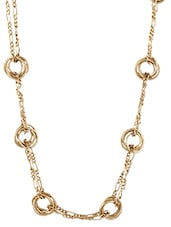 Gold Studded Metallic Round Chain Necklace - By