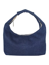 Blue Canvas Small Hand Bag - By