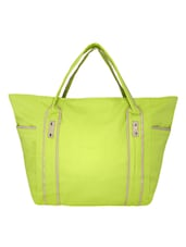 Green Canvas Large Hand Bag - By
