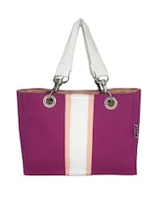 Pink Canvas Small Hand Bag - By