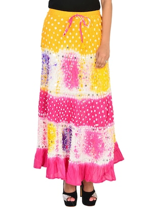 multi colored cotton A-line skirt
