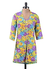 Multicolour Printed Cotton Tunic - By