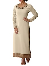 silver georgette straight kurti -  online shopping for kurtis