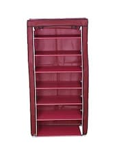 Pink Metal Cloth Seven Layered Shoe Rack - Cool Trends
