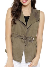 brown faux leather jacket -  online shopping for jackets