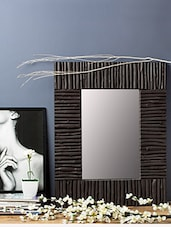 Wood Twig Framed Rectangular Mirror - By