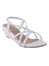 white fabric wedge -  online shopping for wedges
