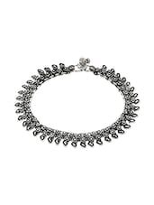 Silver Silver Plated Anklet - By