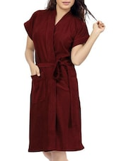 red cotton bathrobe -  online shopping for bath robes